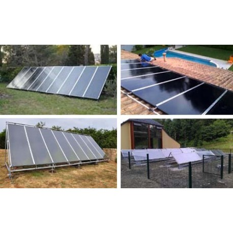 Chauffage piscine hors sol solaire stunning panneaux solaires installs au sol with chauffage - Chauffage solaire piscine intex ...