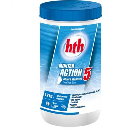HTH MINITAB ACTION 5 spécial piscines hors sol